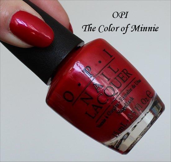 OPI The Color of Minnie Swatches & Review