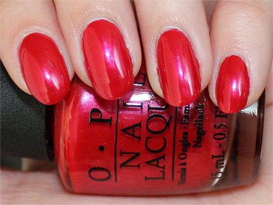 OPI The Colour of Minnie Review & Swatch