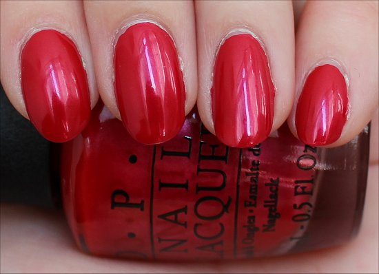 OPI The Colour of Minnie Swatch & Review