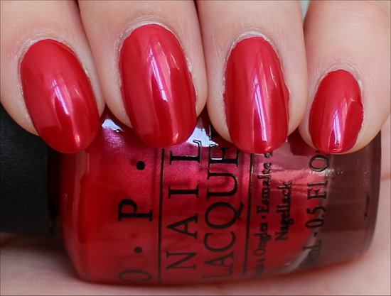 OPI Vintage Minnie Mouse Collection The Color of Minnie Swatch & Review