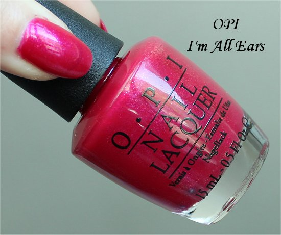 Vintage Minnie Mouse Collection OPI I'm All Ears Swatch & Review