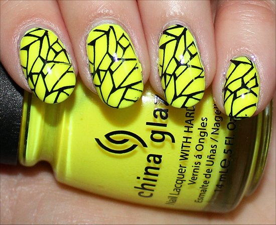 Yellow & Black Konadicure Swatch