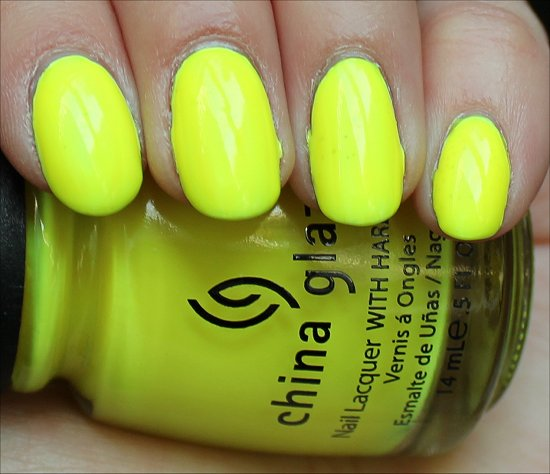 Yellow Polka Dot Bikini by China Glaze Swatch & Review