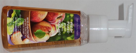 Bath & Body Works Fresh Picked Peaches Antibacterial Foaming Soap Review
