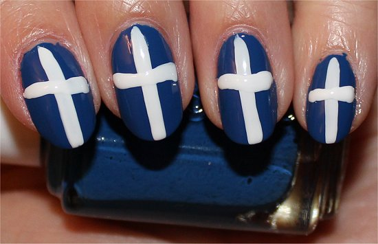 British Union Jack Nail Art Tutorial Step 4