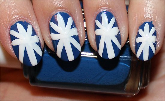 British Union Jack Nail Art Tutorial Step 5
