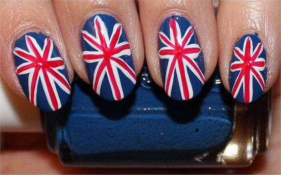 British Union Jack Nail Art Tutorial Step 6