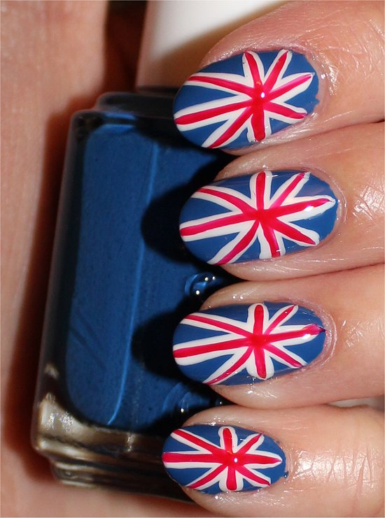 Nail art tutorial british union jack nails swatch and learn british union jack nailart tutorial swatches photos prinsesfo Image collections