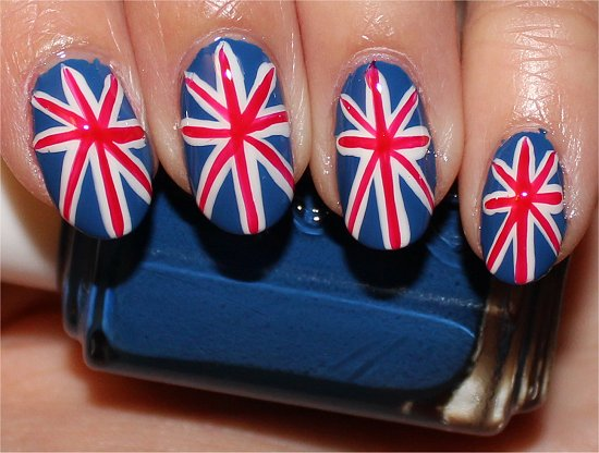 British Union Jack Nails Nail Art Tutorial & Pics