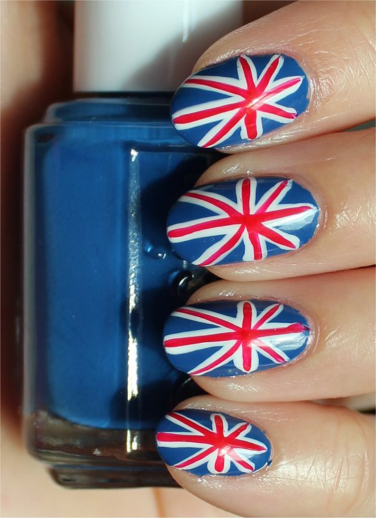 British Union Jack Nails Nail Art Tutorial & Pictures