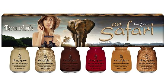 China Glaze On Safari Collection Tourist Set Press Release & Promotion Pictures