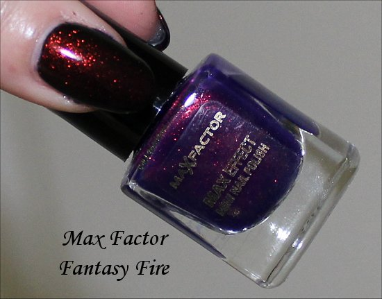 Max Factor Fantasy Fire Swatches &amp; Picture