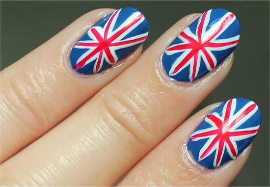 Union Jack British Nails Nail Art Tutorial & Swatches