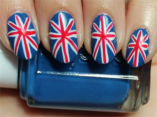 Nail Art Tutorial British Union Jack Nails Swatch And Learn