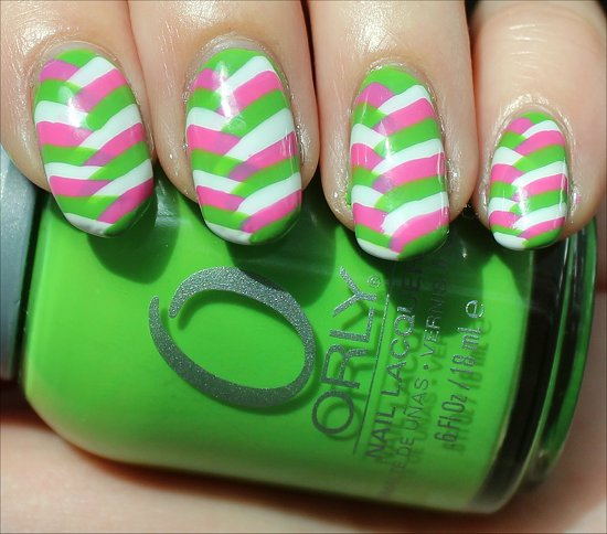 Bright Fishtail Braid Nails Nail-Art Pictures
