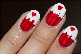 Canada Day Cupcake Nails Nail Art Pictures