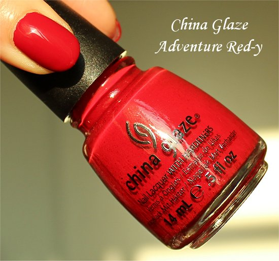 China Glaze Adventure Red-y Review & Photos