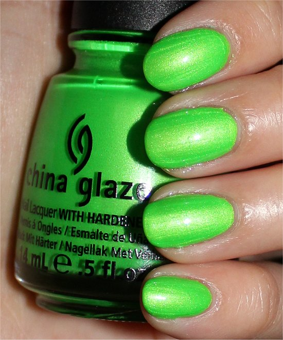 China Glaze I'm with the Lifeguard Swatches & Review