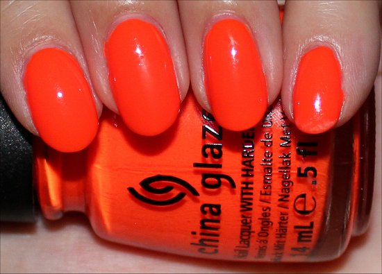 China Glaze Orange Knockout Swatches & Review | Swatch And Learn