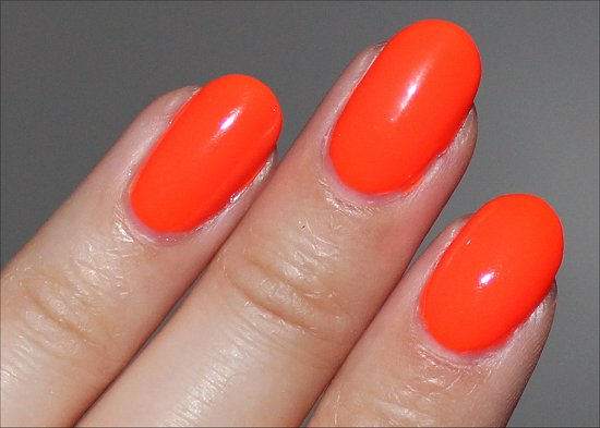 China Glaze Orange Knockout Swatch & Review