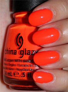 China Glaze Orange Knockout Swatches & Review
