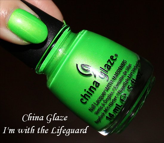 China Glaze Summer Neons Collection Swatches I'm with the Lifeguard Swatch