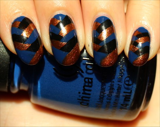 Fishtail Braid Nail Art Tutorial Swatches & Pictures