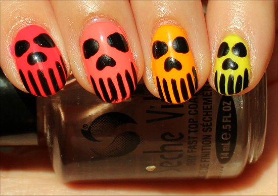 Neon-Skeleton-Skull-Nails-Nail-Art-Pics