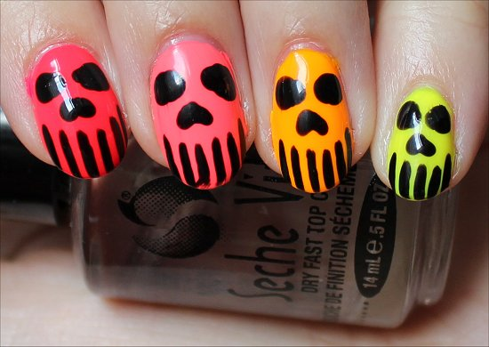 Neon Skull Manicure
