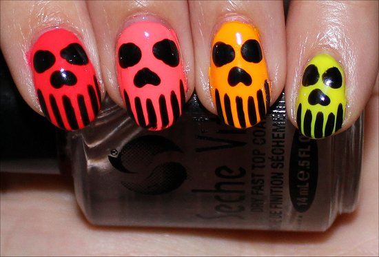 Neon-Skull-Nail-Art-Nails-Manicure-Photos