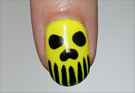 Neon Skull Nail Art Nails