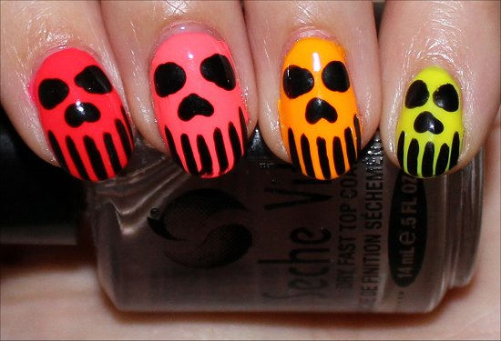 Neon-Skull-Nails-Nail-Art-Manicure-Photos