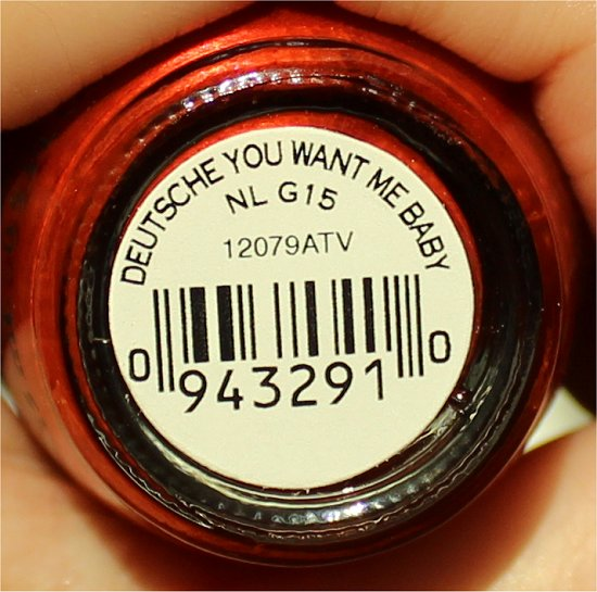 OPI Deutsche You Want Me Baby Swatch
