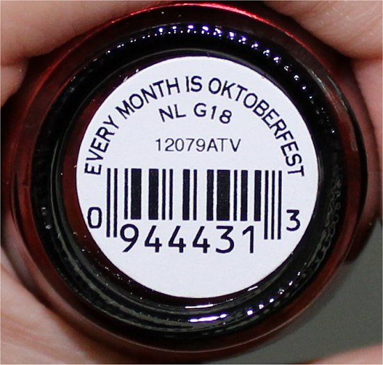 OPI Every Month Is Octoberfest OPI Germany Collection