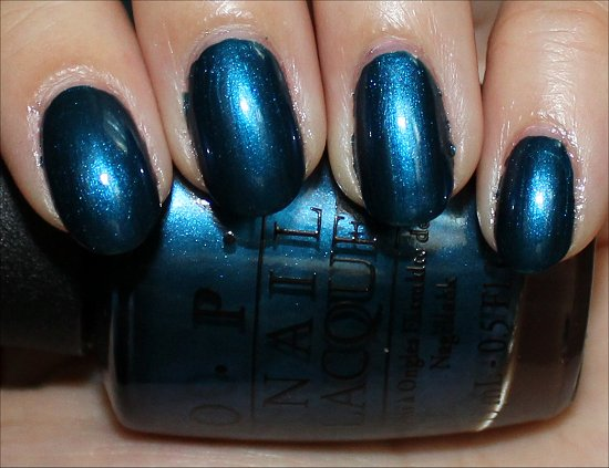 OPI Germany Collection Unfor-Greta-bly Blue Swatch & Review