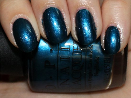 OPI Unfor-Greta-bly Blue Review