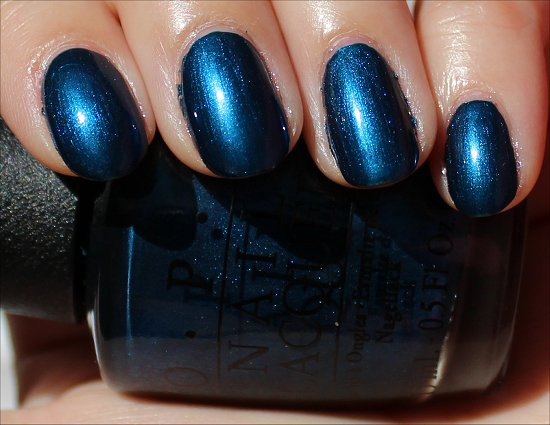 OPI Unfor-Gretably Blue Swatch & Review