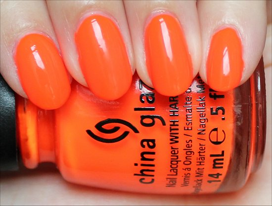 Orange Knockout China Glaze Swatches & Review