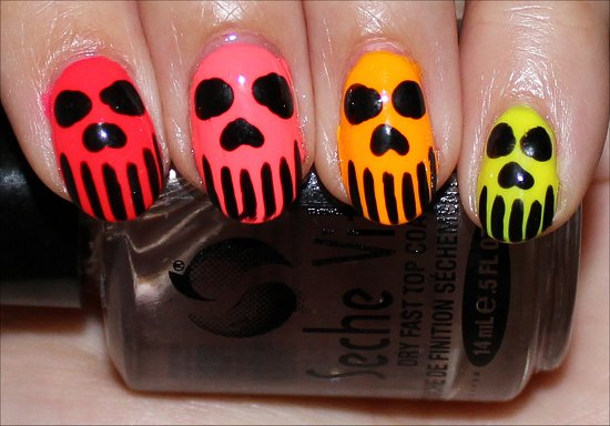 Skull-Nails-Neon-Nail-Art-Pics