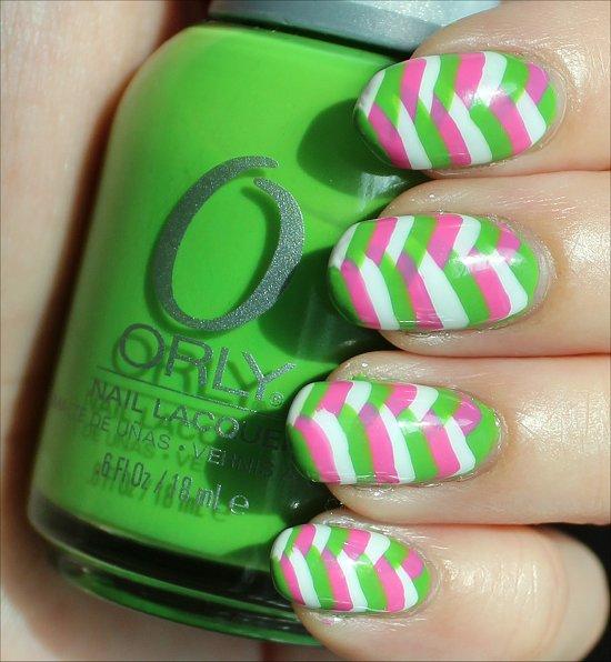Summery Fishtail Braid Nails Nail Art Swatches