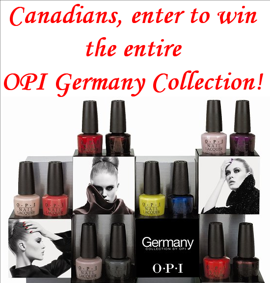 Win the OPI Germany Collection SwatchAndLearn