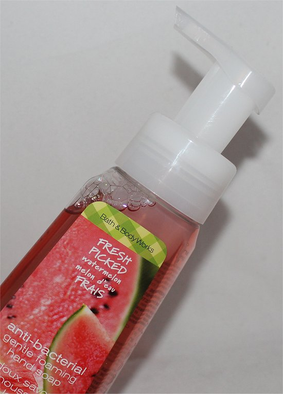 Bath & Body Works Fresh Picked Watermelon Anti-Bacterial Gentle Foaming Hand Soap Review & Pictures