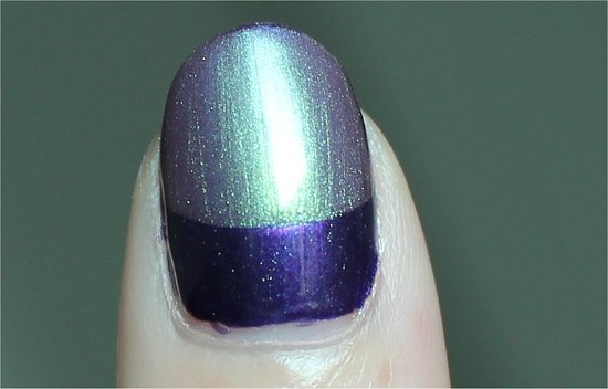 Purple & Green Ruffian Nails Nail Art