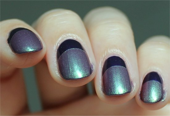 Purple and Green Ruffian Nails Manicure Photos