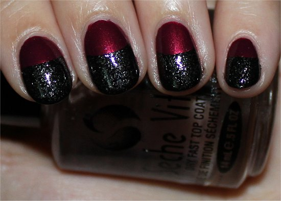 Red-and-Black-Ruffian-Manicure-Nails-Nail-Art