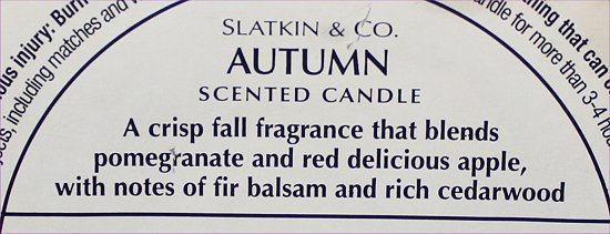 Slatkin & Co. Autumn Candle Pictures & Review