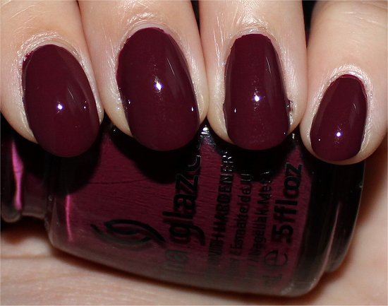 China Glaze Perfect Plum Swatch & Review