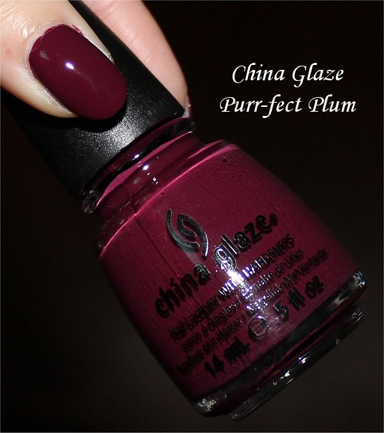 China Glaze Purr-fect Plum On Safari