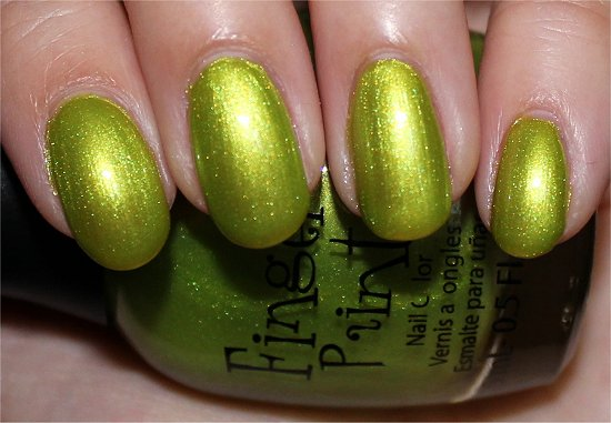 Guggen I'm Lime by FingerPaints Swatches & Review