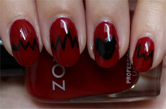 Heart Nails Nail Art & Tutorial
